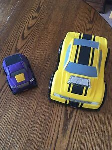 Fisher Price Large and Small Soft Shell Cars