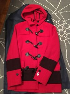 XS Red wool Olympic Coat