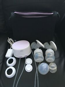 Advent breast pump and accessories