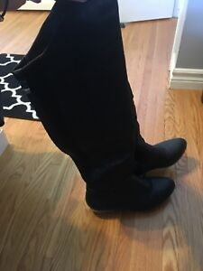 Like-New over-the-knew boots size 8