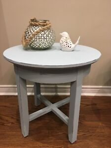 Refinished Chalk Paint Side Tables