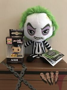 BEETLEJUICE PLUSH & EXCLUSIVE FUNKO POCKET POP ASH FIGURE