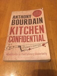 Autographed copy of Anthony Bourdain's kitchen confidential
