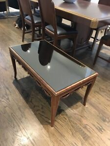 Vintage mirrored coffee table