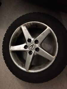 16'' rims with winter tires 550$