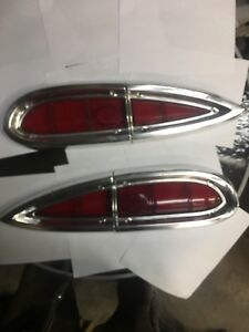 1959 El Camino tail light bezels and lenses