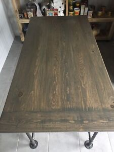 Modern Rustic Industrial Farmhouse Kitchen Dining Table