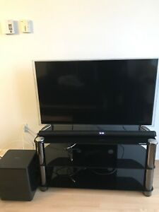 Smart TV + Stand + Soundbar/ Bass *Box Included*