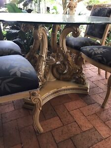 INDOOR/OUTDOOR FURNITURE. TABLES, CHAIRS, ARMOIRES, CHAISES ETC.