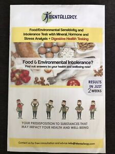 Identallergy Food & Environmental Intolerance Test