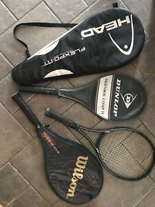 Four tennis rackets for sale