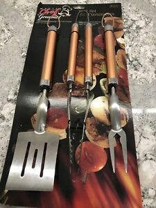 3 piece master chef copper bbq tool set. New  $20obo