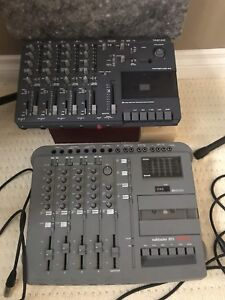 4 track cassette recorders w/blank cassettes and cases