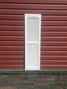 5 Sets of White Louvered Shutters