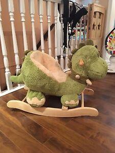 Rocking Dinosaur and Rocking Sheep