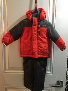 Boys 18 months snow suit with matching toque and mitts