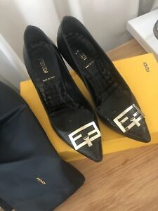 Fendi croc black leather pumps heels 37 6 RRP975 Docklands Melbourne City Preview