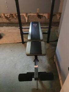 Banc d'exercice avec poids