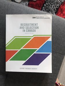 Recruitment and selection in Canada 7th editon