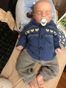 SOLD Reborn baby boy doll Lifelike Vinyl baby Docklands Melbourne City Preview
