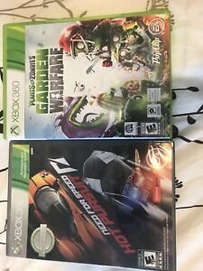 Xbox 360 games plants vs zombies and need for speed