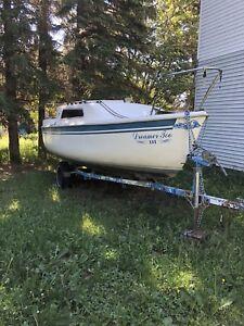 Late 80s 21' sailboat