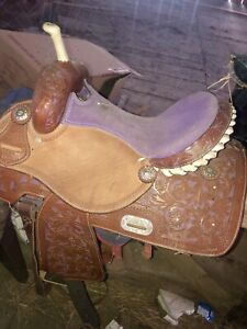 Purple western saddle for sale