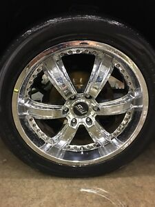 """SPORT MUSCLE 22"""" RIMS WITH TIRES - GM 6 BOLT"""