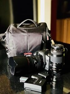 Whole set Canon body with lens and accessories