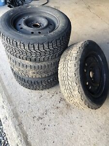215/65 16 studded winter tires on rims