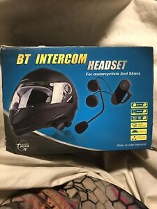 Matching Motorcycle helmets with Bluetooth headset