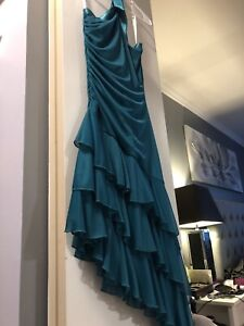 Medium turquoise cocktail dress