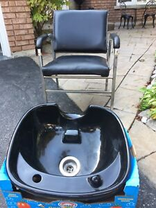 Hair Salon Shampoo Basin and Chair