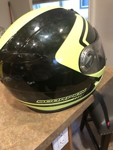 Green Scorpion XL helmet