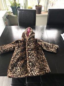 Manteau fillette 4T fausse fourrure