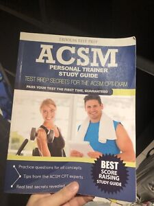 Acsm personal trainer study guide 2016