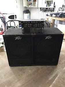 "PEAVEY 18"" bins, crossovers, CS900 amp"