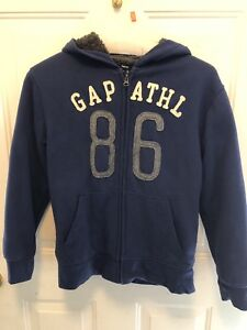 FOR SALE:  Gap Sherpa Hoodie Sz XL or 12 Navy Blue Jacket