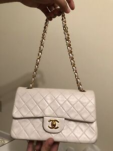 57daadfbaa5 Chanel double flap bag with serial number