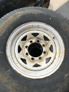 235/85/R16 trailer tires and rims.