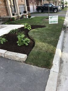 A Couple Landscapers ; gardens, new grass, interlock and more!