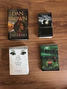 Lots of books!! Dan Brown, Stephen King more!!