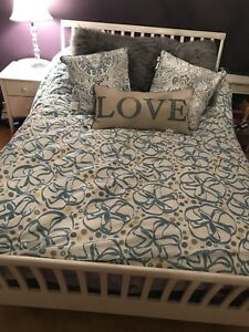 Double bed and night table