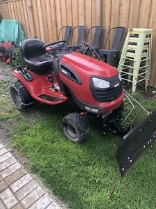 "Craftsman YTS 4000 24hp lawn tractor with plow and 42"" deck"