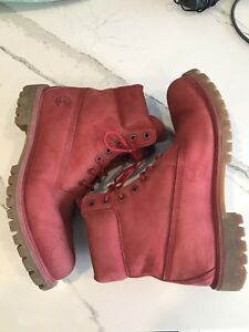 Red Timberland Boots | Size 10 Men's