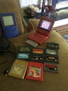 Gameboy advance sp with charger + gb pocket,  ac adapter+ games