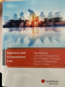 Business & Corporations Law 3rd edition brand new ISBN 9780409343311