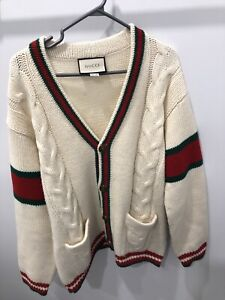 Gucci Cable Knit Cardigan 2018