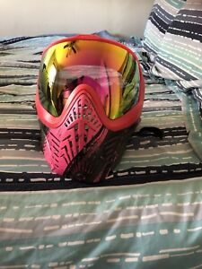 Black and pink vios paintball mask
