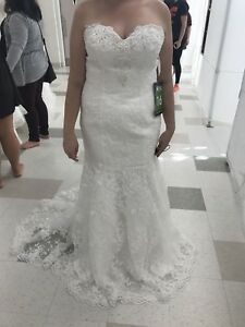 Wedding dress-never worn but to try on
